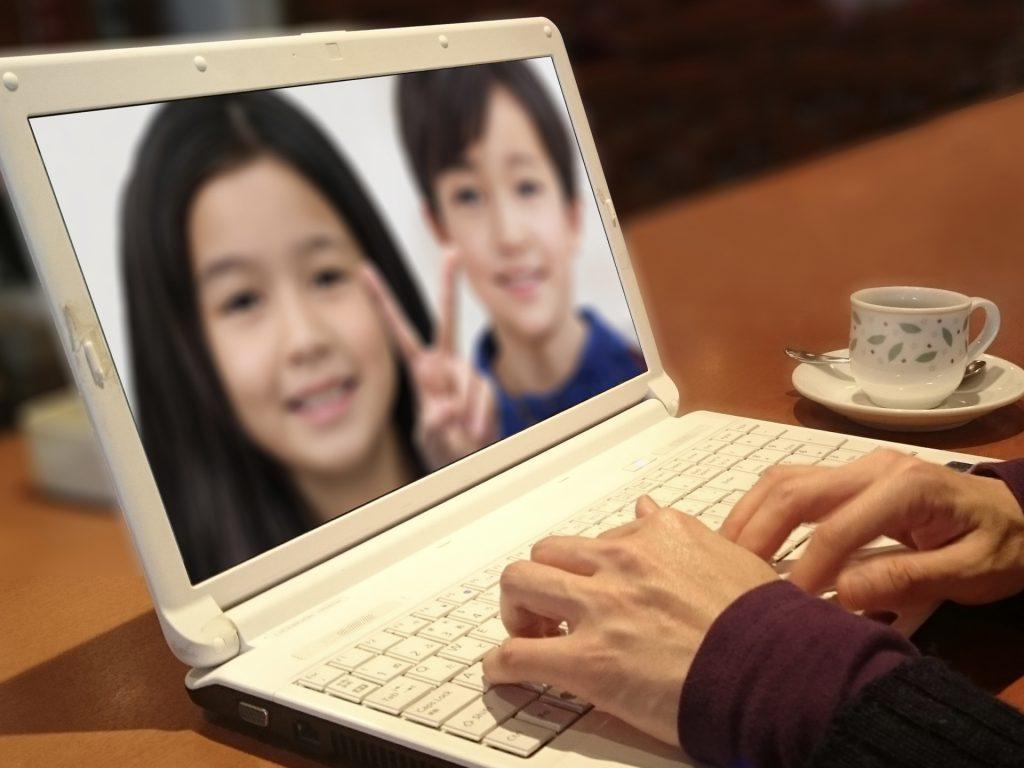 パソコンを使って孫に会いたい!